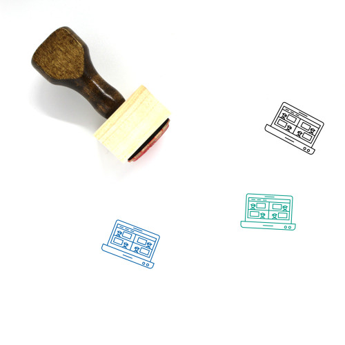 Online Class Wooden Rubber Stamp No. 1