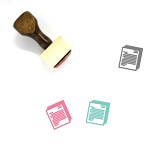 Business Letters Wooden Rubber Stamp No. 4