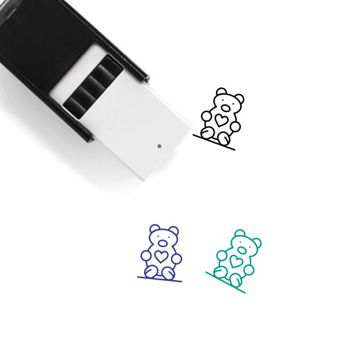 Teddy Self-Inking Rubber Stamp No. 17