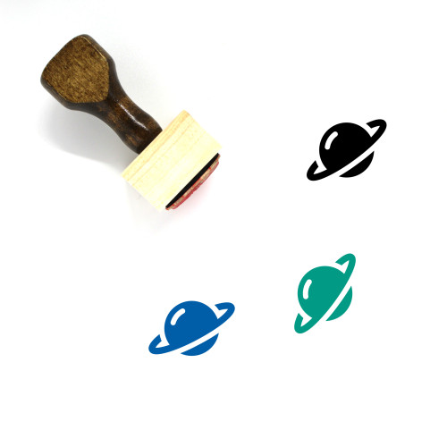 Planet Wooden Rubber Stamp No. 307