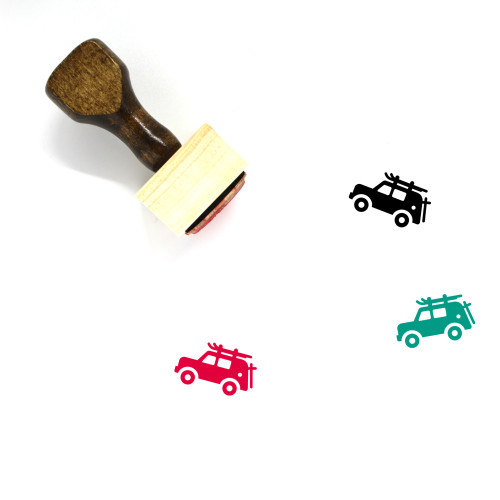 Car Wooden Rubber Stamp No. 52