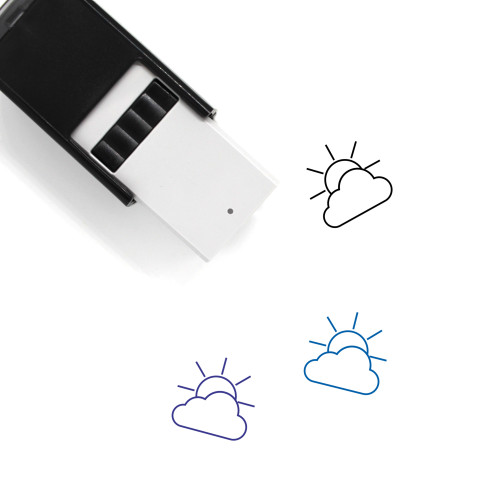 Partially Cloudy Self-Inking Rubber Stamp No. 77