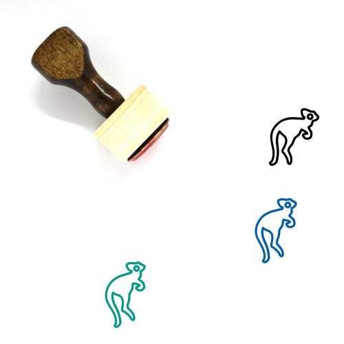Animal Wooden Rubber Stamp No. 166