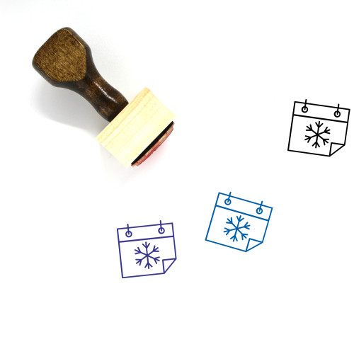 Winter Wooden Rubber Stamp No. 79