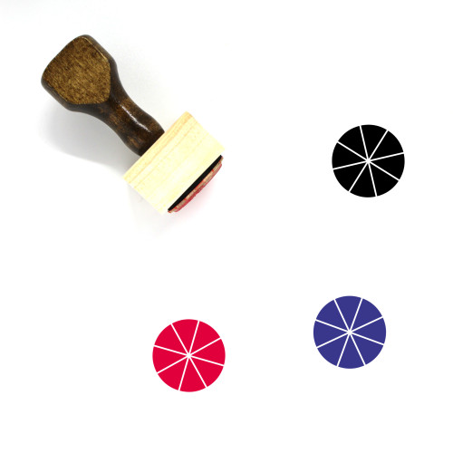 Pie Chart Wooden Rubber Stamp No. 134