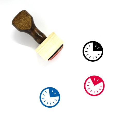 Clock Wooden Rubber Stamp No. 658