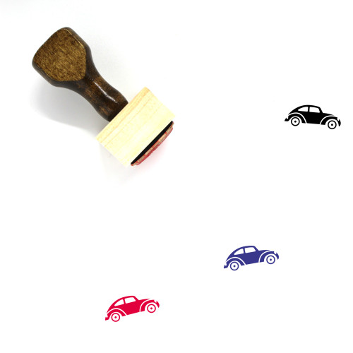 Beetle Car Wooden Rubber Stamp No. 1