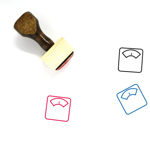 Scale Wooden Rubber Stamp No. 305
