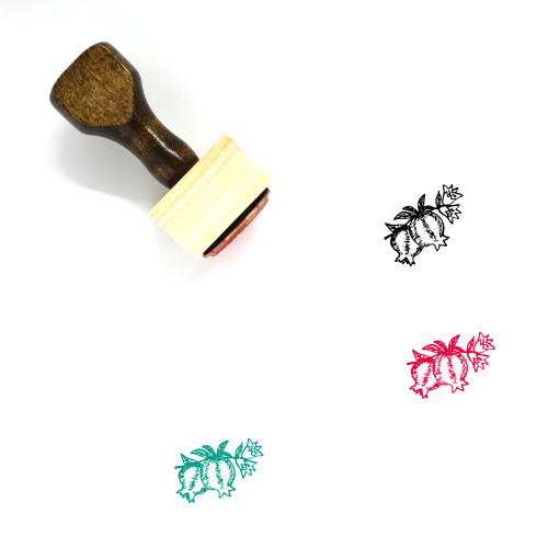 Pomegranate Wooden Rubber Stamp No. 85