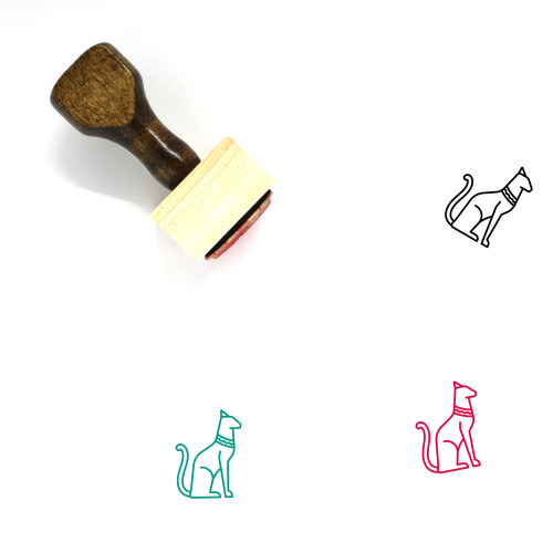 Egyptian Cat Wooden Rubber Stamp No. 2