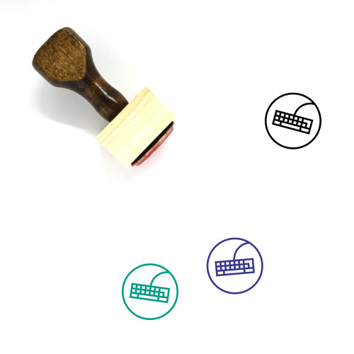Keyboard Wooden Rubber Stamp No. 82
