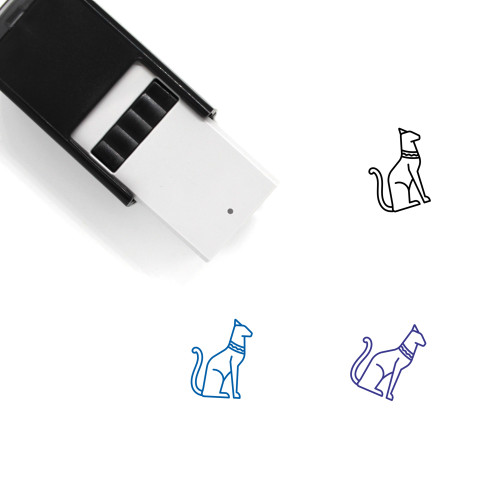 Egyptian Cat Self-Inking Rubber Stamp No. 2