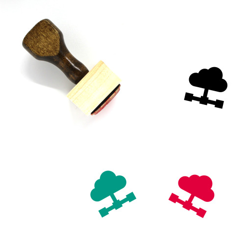 Cloud Sharing Wooden Rubber Stamp No. 39