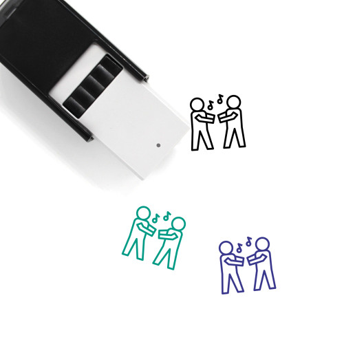 Dancing Self-Inking Rubber Stamp No. 42