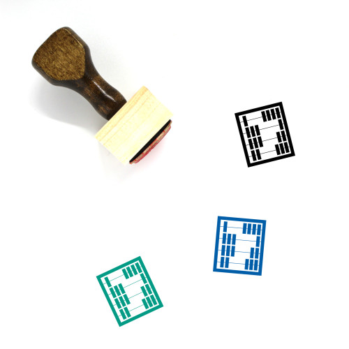 Abacus Wooden Rubber Stamp No. 30