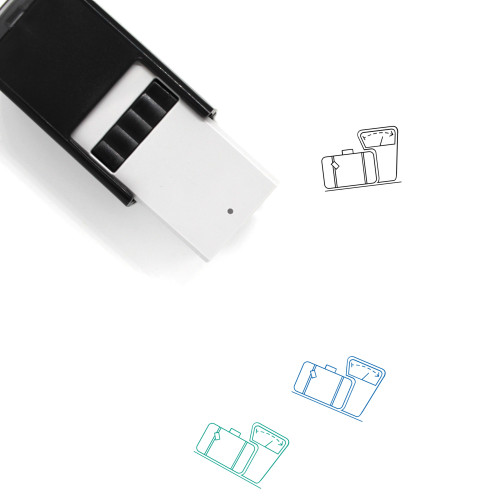 Luggage Scale Self-Inking Rubber Stamp No. 21