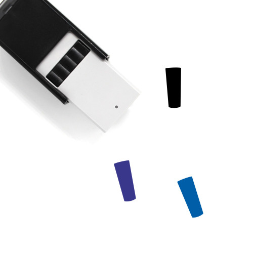 Collins Glass Self-Inking Rubber Stamp No. 5