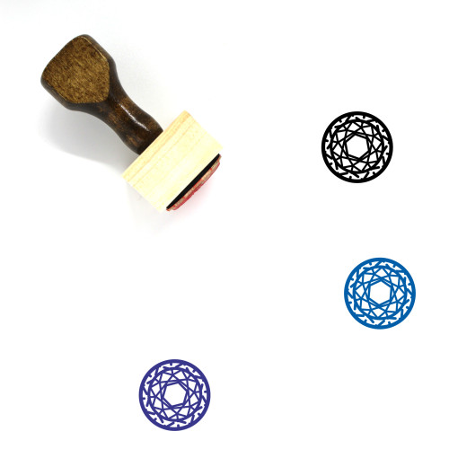 Gemstone Wooden Rubber Stamp No. 44