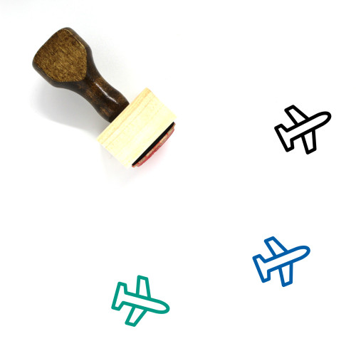 Airplane Wooden Rubber Stamp No. 360