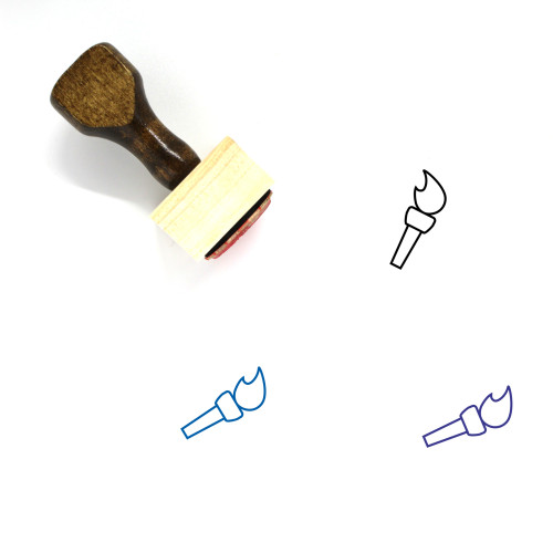 Torch Wooden Rubber Stamp No. 100