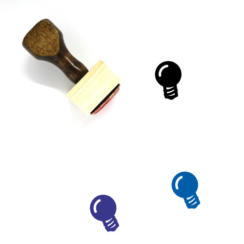 Light Bulb Wooden Rubber Stamp No. 382