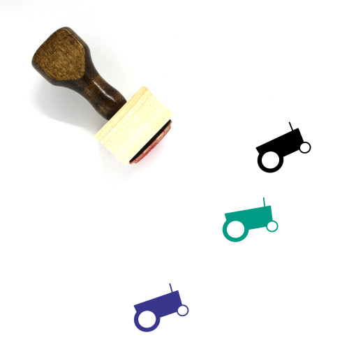 Tractor Wooden Rubber Stamp No. 103