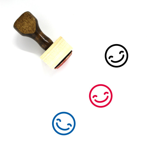 Smile Wooden Rubber Stamp No. 216