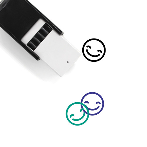 Smile Self-Inking Rubber Stamp No. 216