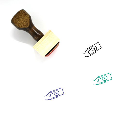 Make Payment Renminbi Wooden Rubber Stamp No. 1