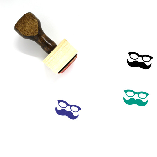 Hipster Wooden Rubber Stamp No. 9