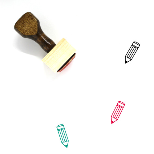 Pencil Wooden Rubber Stamp No. 190