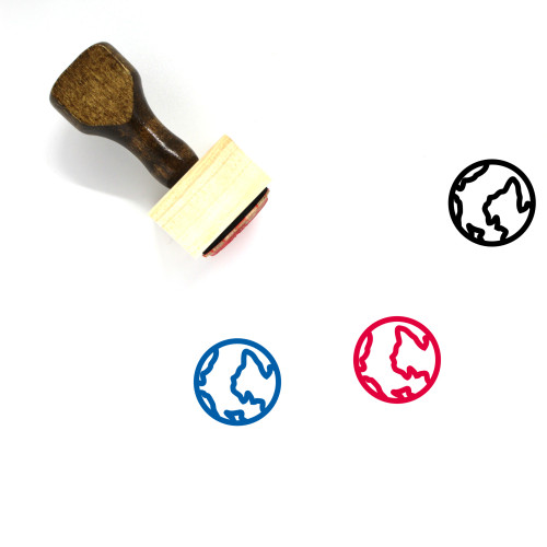Earth Wooden Rubber Stamp No. 444
