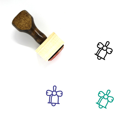 Festive Bell Wooden Rubber Stamp No. 1