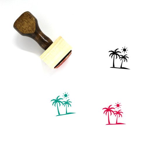 Palm Wooden Rubber Stamp No. 169