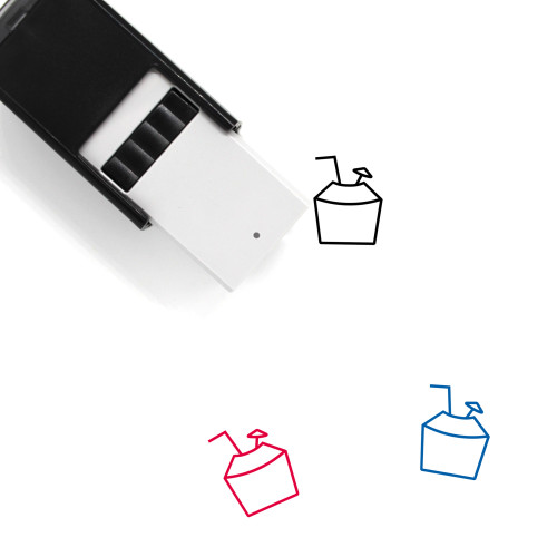 Coconut Drink Self-Inking Rubber Stamp No. 43