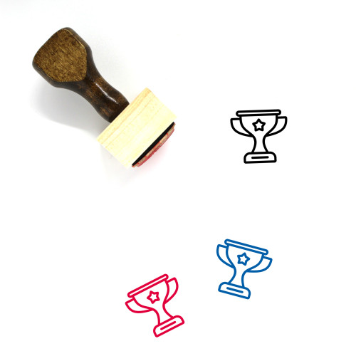 Champions Wooden Rubber Stamp No. 4