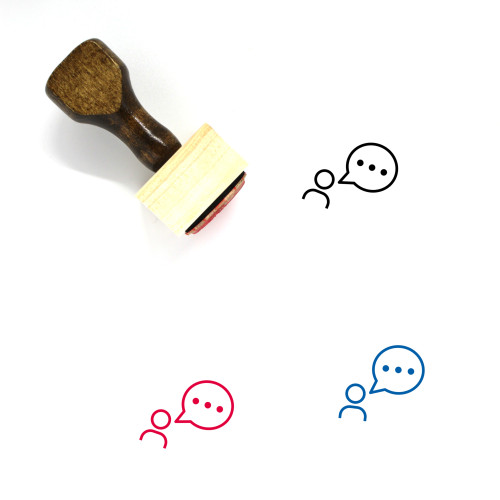 Communication Wooden Rubber Stamp No. 179