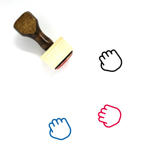 Grab Hand Wooden Rubber Stamp No. 2