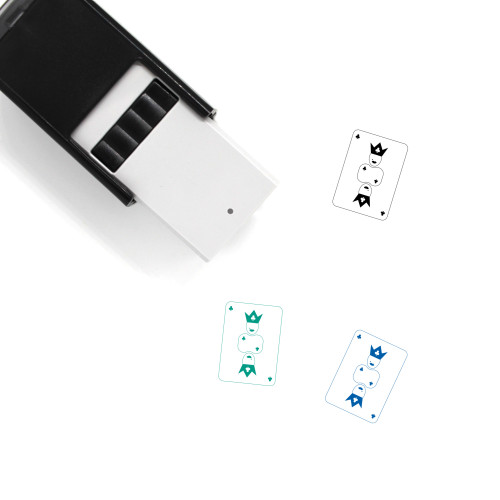 Queen Of Clubs Self-Inking Rubber Stamp No. 1