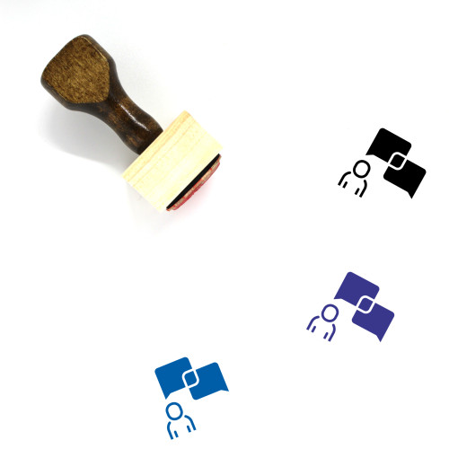 Communication Wooden Rubber Stamp No. 180