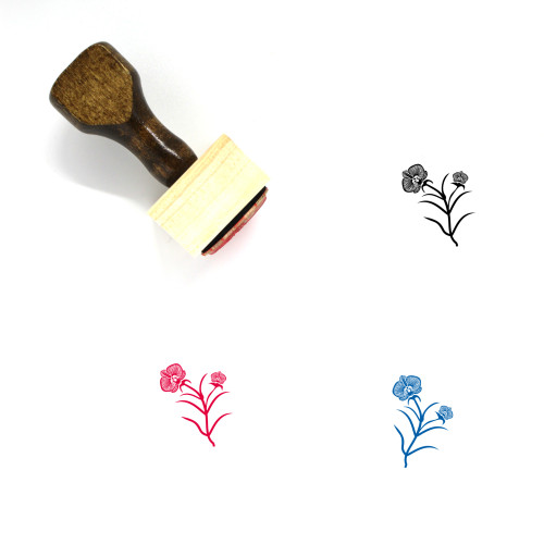 Orchids Wooden Rubber Stamp No. 3