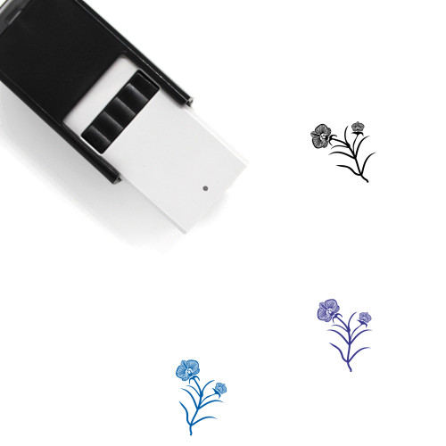 Orchids Self-Inking Rubber Stamp No. 3