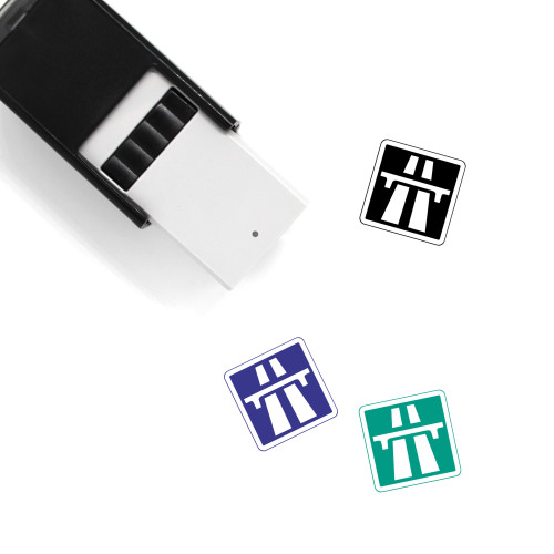 Highway Self-Inking Rubber Stamp No. 54
