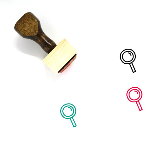 Magnifying Glass Wooden Rubber Stamp No. 292