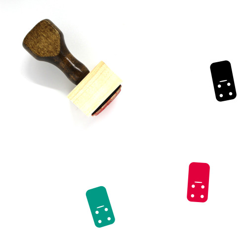 Domino Wooden Rubber Stamp No. 187