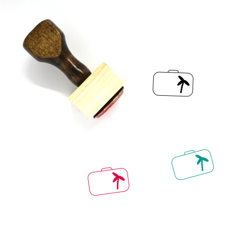 Suitcase Wooden Rubber Stamp No. 128