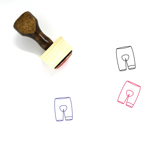Shorts Wooden Rubber Stamp No. 111