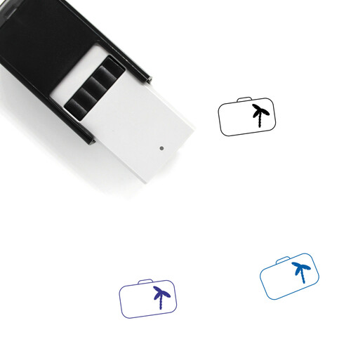 Suitcase Self-Inking Rubber Stamp No. 128