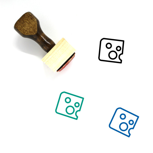 Food Wooden Rubber Stamp No. 196