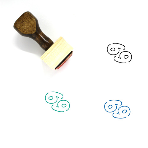 Astrology Wooden Rubber Stamp No. 28